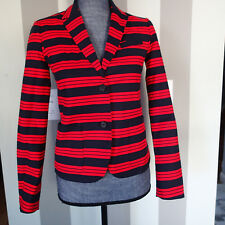 Gap Academy Blazer Sz 0  jacket top stripes red navy blue  cotton blend   ar