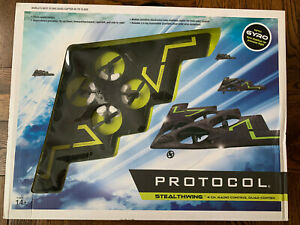 Protocol Quad-Copter 4 Channel Stealthwing Flying Wing RC Gyro Stabilizer New