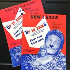 1944 DANNY KAYE two film sheet music UP IN ARMS Dinah Shore M-G-M Ted Koehler