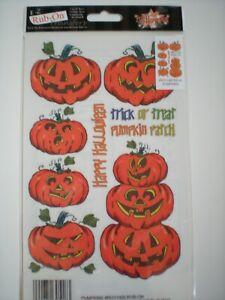 "Royal ""Happy Halloween Pumpkins"" EZ Rub-On Acid Free Transfers"