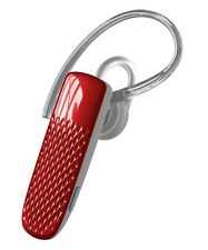 Universal Bluetooth Headset with Mic and Music, for iPhone, All Smartphones, Red