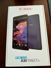 """New Alcatel A30 8"""" Tablet 9024W 4G LTE WIFI T-Mobile 16GB Android 7.0 Nougat"""
