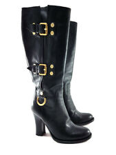 Cesare Paciotti Black Leather High Heels Boots, Women's Shoes Size US 6 / EU 36