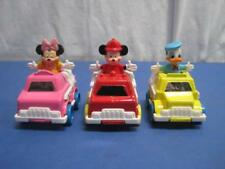VTG ARCO Disney Die Cast Vehicles (Ice Cream, Bus, Fire Truck) w/Figures 3pc Set