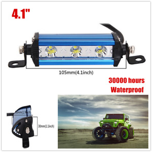 Off-Road SUV Ultra Thin Single Row LED Fog Work Light Bar 6000K Waterproof