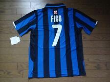 Inter Milan #7 Figo 100% Original Centenary Jersey L BNWT 2007/08 Home