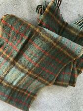 Ralph Lauren Polo Teal Green Brown Tartan Horse Blanket Kilt Wool Scarf Scotland