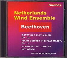 Beethoven Symphony No. 7 Piano Quintet Octet Peter Donohoe CD netherlandss vento