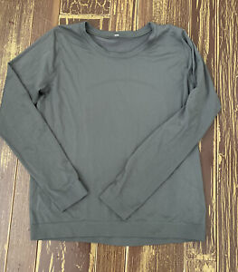 Lululemon Long Sleeve Relaxed Fit Swiftly Breeze SZ 6 8 VEUC GRAY SAGE GREEN