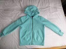 NEXT Boys Girls Unisex Mint Green Long Sleeve Hooded Zip Front Jacket Size 8 Yrs