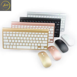 Wireless Keyboard And Mouse Combo Set 2.4G For PC Laptop Mac Full Size Slim