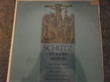 Schutz  St. John Passion Stuttgart Choral Soc. Grischkat - Dover HCR-5243 1LP