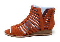 Vince Camuto Revey Women's Wedge Sandal Orange Nubuck Size 8 M US
