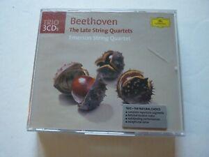 Beethoven: Late String Quartets - Emerson SQ 3-CDs 2003 Deutsche Grammophon