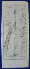 GLASGOW, IRVINE, AYR, SCOTLAND, antique road map, Taylor & Skinner, 1776