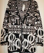 NWT Additions by Chico's Aztec BOWLS REFLECTION CARDIGAN ECRU SWEATER - Size 1