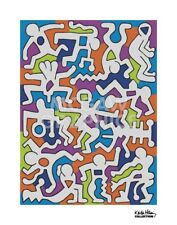 POP ART PRINT - Untitled (Palladium Backdrop), 1985 by Keith Haring Poster 11x14