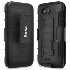 RANZ® Kyocera Hydro Air/ Wave Impact Armor Hybrid Kickstand & Belt Clip Case