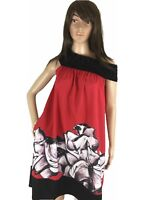 Freeway Womens Dress Flowy Off The Shoulder Aline Flare  Art Graphics  XS