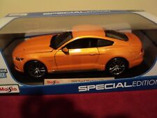 Maisto  2015 Ford Mustang GT   1/18 scale NIB orange exterior 2017 release