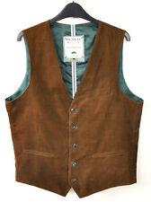 MCNEAL Men Brown Corduroy Waistcoat UK40 Soft Cords Button Up Vest Body Warmer S