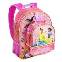 Disney Store Jasmine Rapunzel Cinderella Tiana Backpack Lunch Tote Box Book Bag