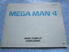 MEGA MAN 4 NES 8bit NINTENDO: ISTRUZIONI originali  Booklet