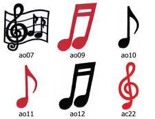 Set #054 Notenschlüssel 6 Stück Aufnäher Musik Noten DIY Bügelbild Applikation