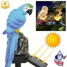 UK Waterproof Solar Powered Garden LED Lights Owl Animal Lawn Yard Ornament