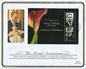 GUYANA 4 APRIL 2011 ROYAL ENGAGEMENT M/SHEET O/S VLE FIRST DAY COVER