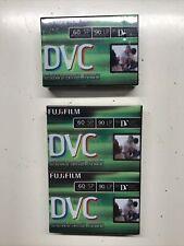 3 Pack Fujifilm Mini Dvc Digital Video Cassette Tapes Dvm60(Me) Nos Sealed