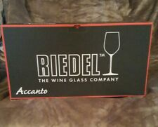 New Riedel Accanto Wine Glasses Crystal Glass in Box Set of 4.