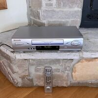 Panasonic PV-V4603S Omnivision VCR + Shuttle Tower Remote VHS Player Recorder