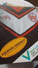 Fulham v Hunslet programme 6.3.83