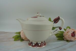 Vintage Vernon Kilns Monterey Red and Blue Tea/Coffee Pot