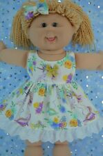 """Play n Wear Dolls Clothes To Fit 16"""" Cabbage Patch UNICORN/FLORAL DRESS~BOW"""