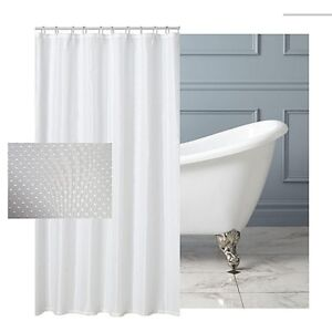 Extra Long Bathroom Shower Curtain W180xL200/220  Waterproof Polyester Fabric