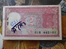 100 Notes Serial Packet ( Bundle ) B21 R.N. MALHOTRA 'A' - 2 Rupees Tiger india