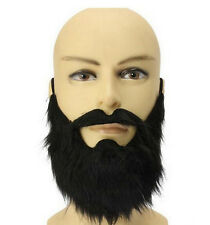 Costume Party Male Man Halloween Beard Facial Hair Disguise Game Black Mustache