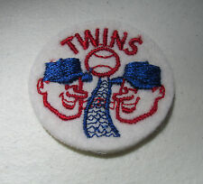 "1960s Vintage Baseball Cloth patch Minnesota TWINS Metrodome 2"" NOS"