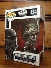 FUNKO POP! Star Wars Exc Cromo Imperial muerte Trooper #154 Exclusivo Figura Nueva