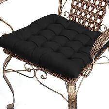 Dining Kitchen Garden Chair Cushion Seat Pad Home Decor Black Cotton 42cm