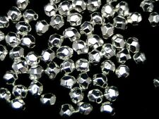 100 pcs - 4 mm Bright Tibetan Silver Dainty Facette Spacer Beads Beading T123