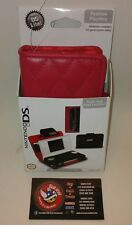 Nintendo DS Lite Fashion PlayThru Switch N Carry Case Real Leather RED game case