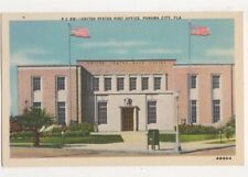 United States Post Office Panama City Fla. USA Vintage Postcard US059