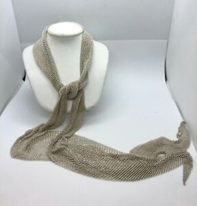 Tiffany & Co. Elsa Peretti Sterling Silver Mesh Scarf Necklace