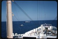 1958 kodachrome Photo slide Ocean Monarch ship  and pilot boat