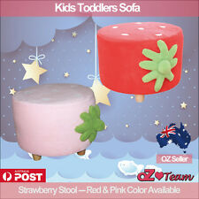 Kids Toddlers Sofa Lounge Couch Strawberry Single Seat Stool Brand New