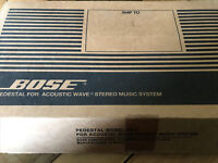 Bose AWACG2 Black pedestal for acoustic wave stereo system 023586 Model PD-2