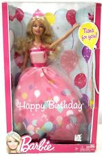 Barbie NEW Happy Birthday Classic Tiara Doll Lets Celebrate Mattel NIB ~ryokan